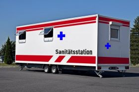 Mobilne pomieszczenia mieszkalno-sypialne dla personelu medycznego